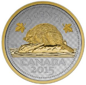 reverse 300x298 - 5 Cent Canadian Beaver