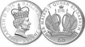 coin 300x167 - Queen Elizabeth II 90th Silver Proof £5 Coin