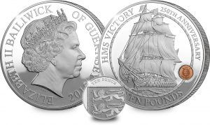 st hms victory guernsey silver c2a310 coin both sides with 10p 300x179 - ST HMS Victory Guernsey Silver £10 Coin (Both Sides) with 10p