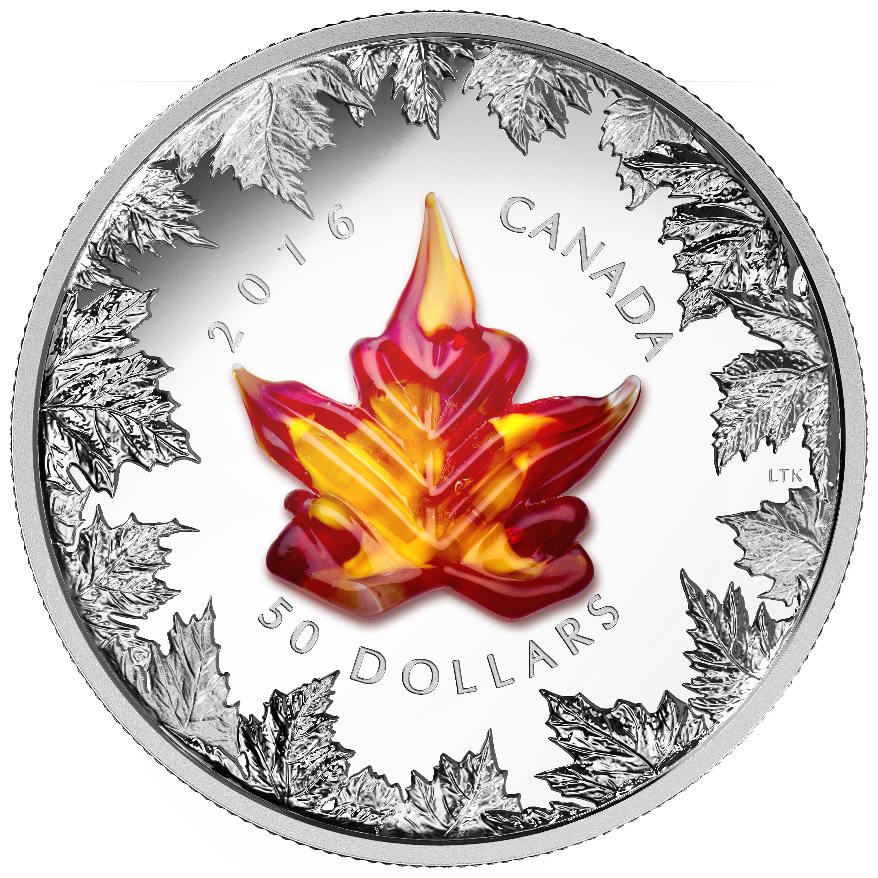2016 50 fine silver coin murano maple leaf autumn radiance reverse 1 - The Million Dollar Sell-out