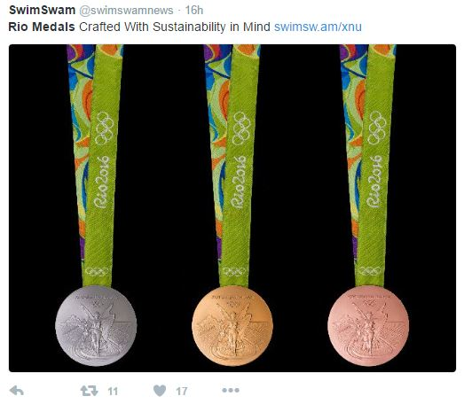 rio medals - When gold medals go green
