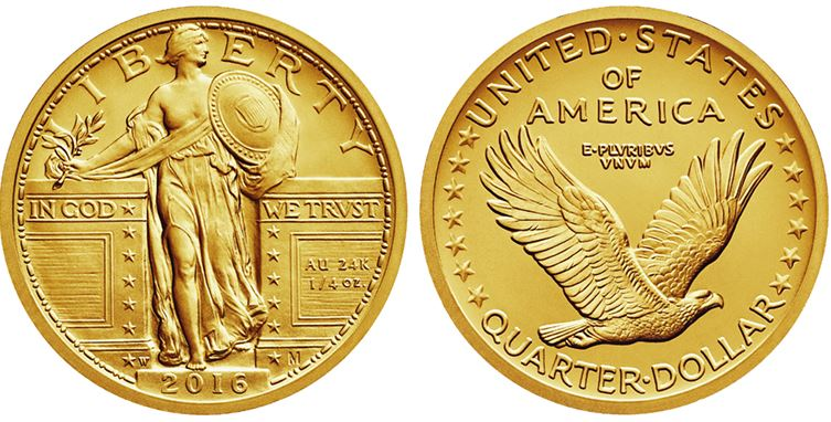 gold standing liberty quarter - Donald Trump and the gold price