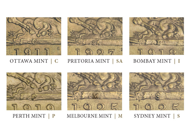 mintmarks image - When Sovereigns were produced all over the world