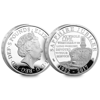 sapphire jubilee silver proof 5 pound coin - Why the UK's Sapphire Jubilee issues sold out in record time