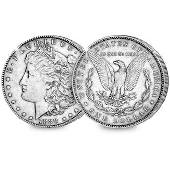 morgan dollar 1888 hot lips - The coin every US collector owns