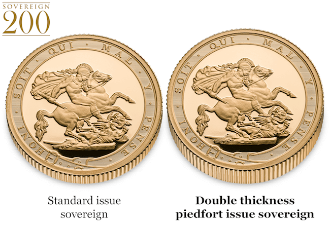 2017 piedfort sovereign comparison - Why the first ever double-thickness Gold Sovereign is a guaranteed sell-out