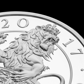 2017 Queens Beasts Lion 10oz Silver Coin Reverse Close Up - My favourite coins of the year