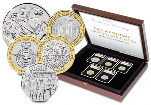 2018 DateStamp Specimen Set Main 300x208 - Unveiled today: The UK's 2018 coin designs