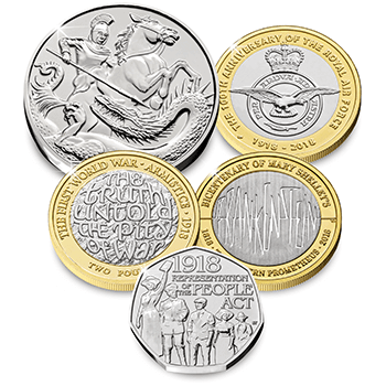 2018 Coins blog image Coins 350x350 2 1 - Unveiled today: The UK's 2018 coin designs
