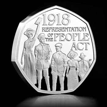ST UK 2018 Representation of the People Act Silver Proof 50p Coin Social Media Image - The 50p of the People