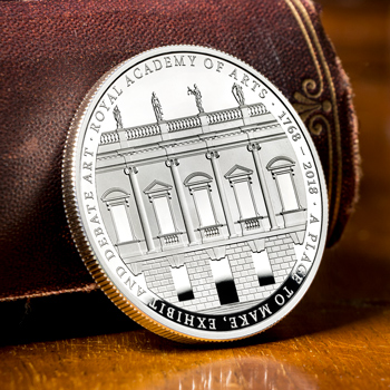 CPM UK 2018 Royal Academy of Arts 250th Silver Proof Five Pound Coin Blog Image - The brand new UK Silver Proof £5 coin with lowest ever edition limit