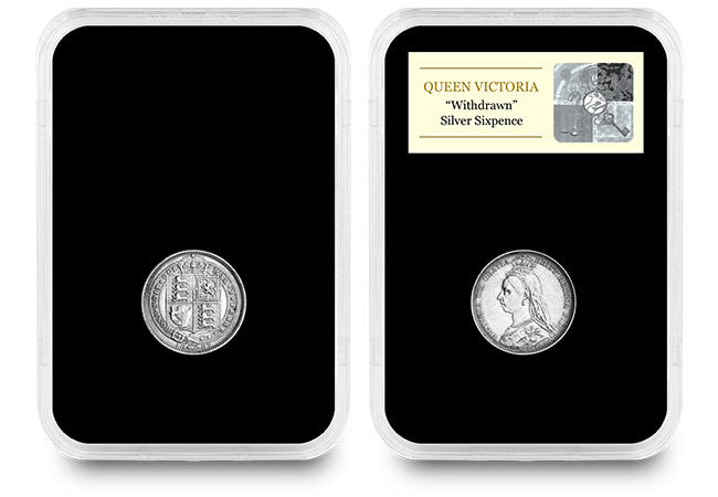 CPM UK 1887 Queen Victoria Withdrawn Silver Sixpence in Capsule - Have you heard of the 130 year old lucky coin that shouldn't exist?