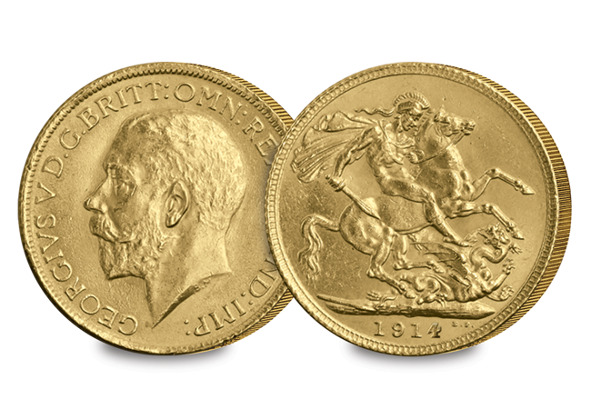 1914 George V Sovereign coin - If the most famous football match in the world had a coin toss…