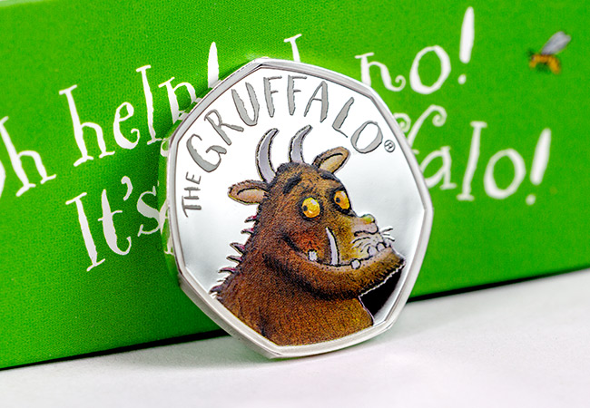 UK 2019 Gruffalo Silver Proof 50p Coin Reverse Lifestyle - The coin 100,000 people queued for