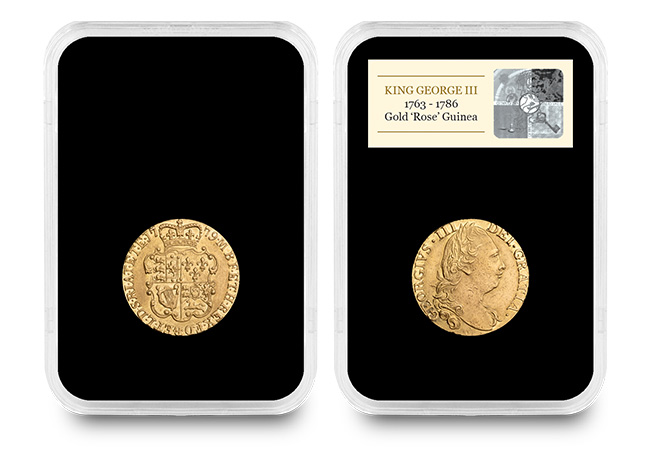 George III Gold Rose Guinea Product image capsule - Why these two coins stole the show at The Royal Mint's first ever auction