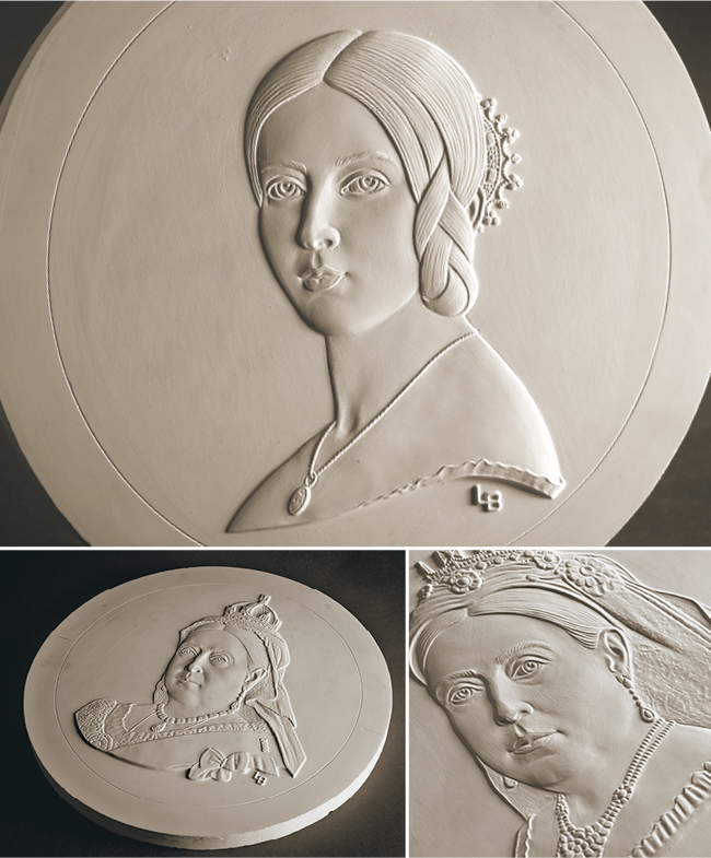 Queen Victoria 200th Luigi Badia Coin Plasters Image 1 - A behind-the-scenes look at the specially commissioned Queen Victoria portraits