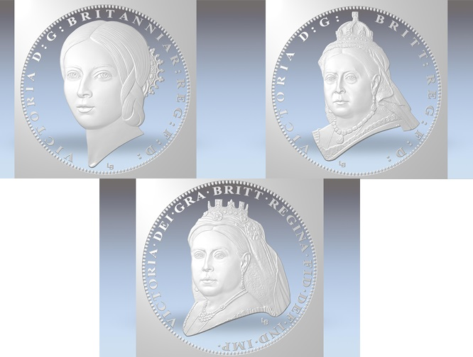 Victoria 200th Birthday Gold Proof One Pound Three Coin Set Digital Set - A behind-the-scenes look at the specially commissioned Queen Victoria portraits