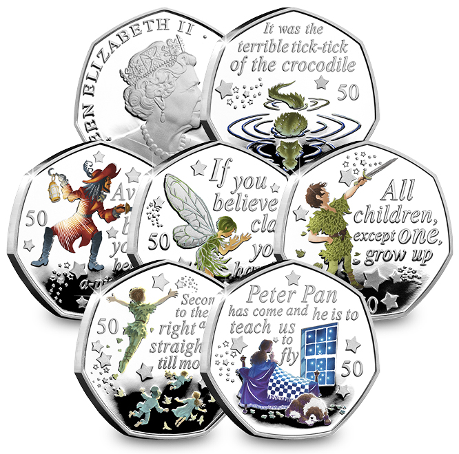 DN peter pan silver proof 50p coin set landing page images long 2 - The day Peter Pan coins were everywhere