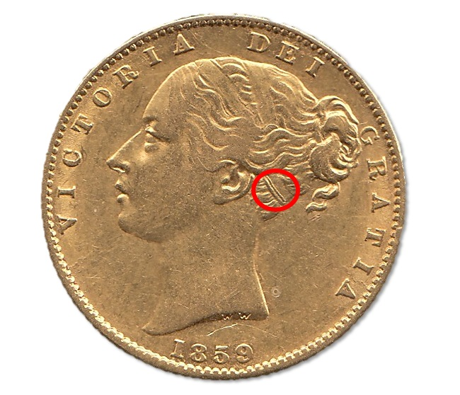 Ansell Type Queen Victoria Sovereign 1859 highlight hair band - Have you heard about the secret Sovereigns containing arsenic?