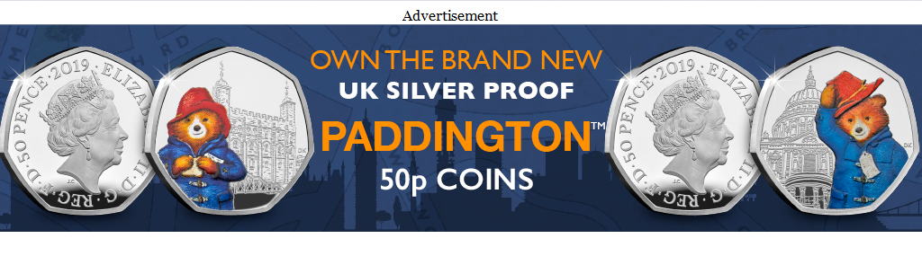 DY Paddington Silver 50ps CPM Banners 3 - Kew Gardens - the rarest UK 50p - has just been reissued for 2019