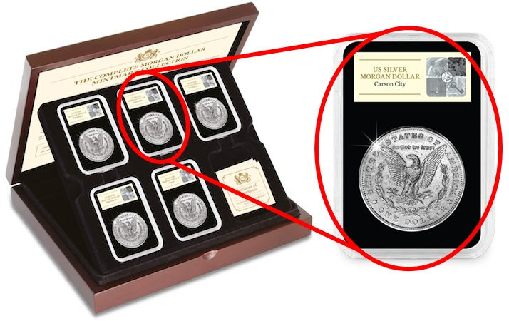 Morgan Dollar Main set and Mintmark Slab Carson City blog image - The secret hiding on the most collected American coins