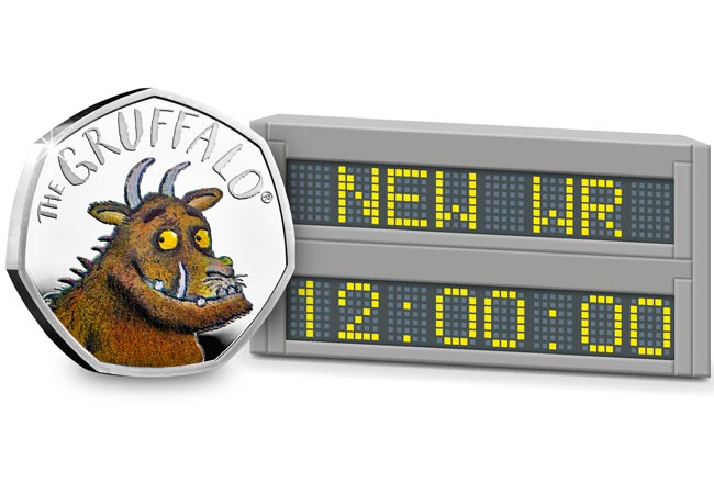 AT Gruffalo World Record - The world record breaker coming back to a UK 50p coin