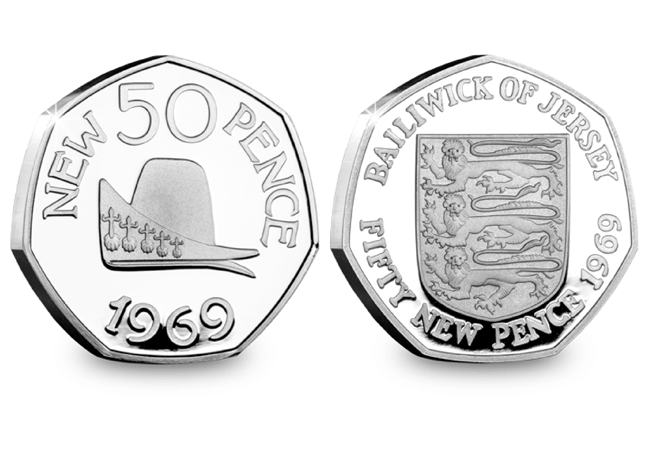AT Jersey Guernsey 50p Pair 50th Anniversary of the 50p WC Product Image - How 1969 became the number of the 50p sell-out