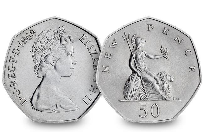 50th anniversary of the 50p coin 1969 blog 1 - The denomination not seen on a UK coin for almost 40 years