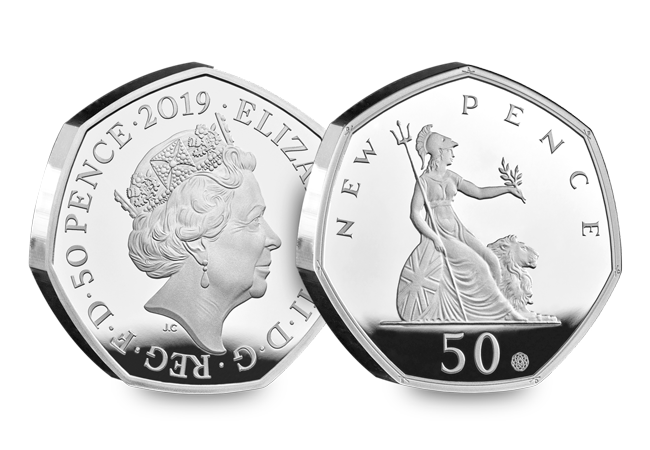 CL 50 years of the 50p 2019 Silver Proof product images 3 - The denomination not seen on a UK coin for almost 40 years