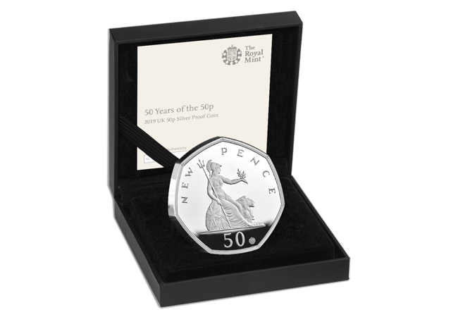 CL 50 years of the 50p 2019 Silver Proof product images 4 - The denomination not seen on a UK coin for almost 40 years