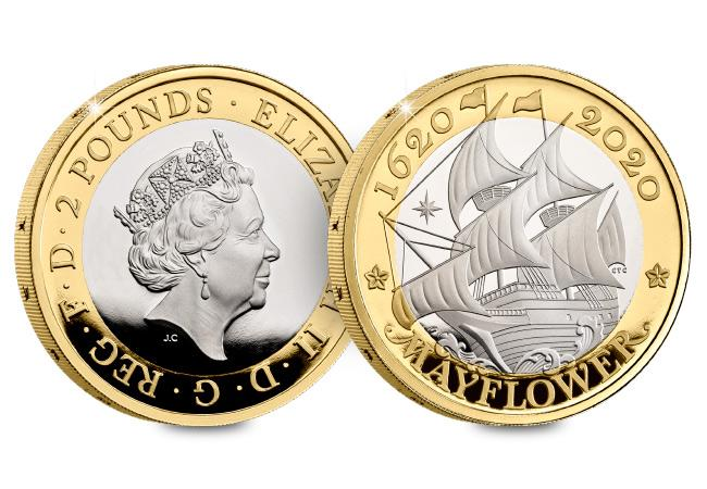 DN 2020 commemorative Base Proof coins product mayflower 2 pound - Unveiled today: The UK's 2020 coin designs