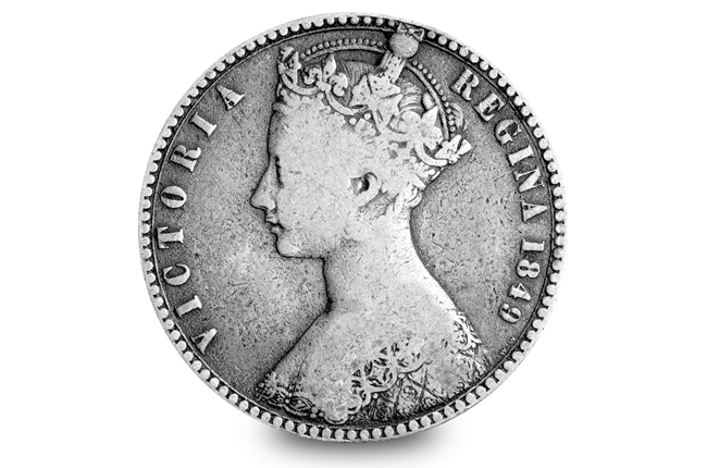 Gothic Head 1849 UK Florin 1 - Secrets, controversy and death – Queen Victoria on coins