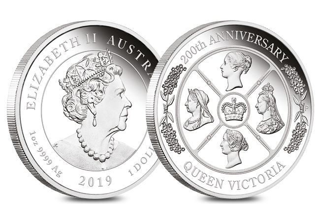 Queen Victoria 200th Anniversary Silver 1oz Proof Perth Mint Obverse Reverse - Secrets, controversy and death – Queen Victoria on coins