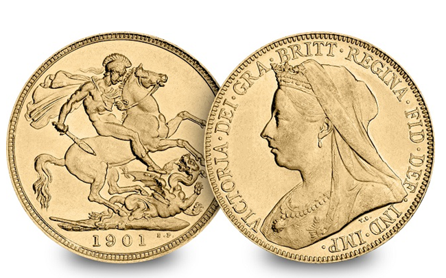 Veiled Head Queen Victoria 1901 Sovereign 1 - Secrets, controversy and death – Queen Victoria on coins