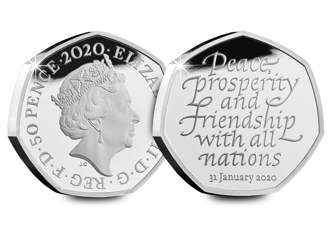CL 2020 UK Brexit silver 50p Web obv rev - The most talked about coin of all time?