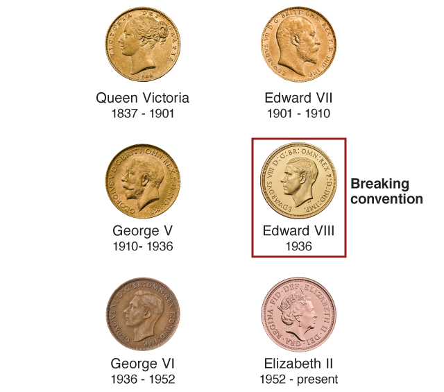 Sovereign Monarchs obverses - Britain's first ever £1m coin