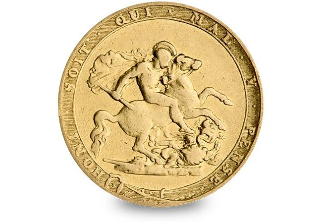 cpm uk 1817 gold proof sovereign reverse first modern sov rev - Britain's first ever £1m coin