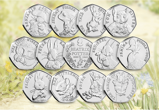 Beatrix Potter 50p Coins - How did the humble 50 pence piece become Britain's most collectable coin?