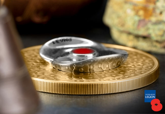 2020 RBL Master Piece Poppy reverse flat - From a Defence Icon to a Numismatic Masterpiece
