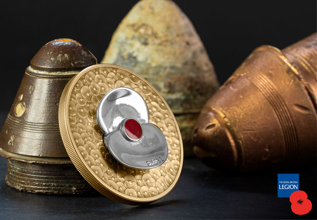 2020 RBL Master Piece Poppy reverse lifestyle 3 - From a Defence Icon to a Numismatic Masterpiece
