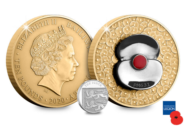 2020 RBL Masterpiece Poppy obverse reverse 10p comparison - From a Defence Icon to a Numismatic Masterpiece