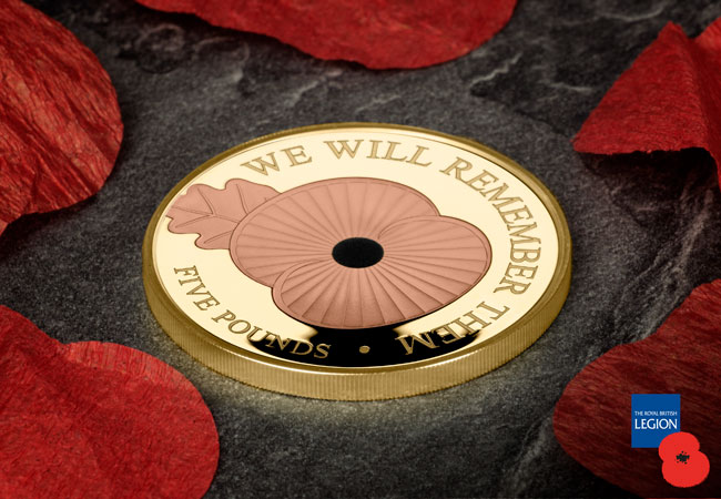 Official RBL Proof Gold Poppy 5 Coin - Breaking News: The Official 2020 Remembrance Poppy Coins are here!