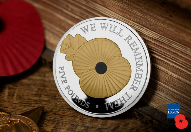 Royal British Legion Silver Proof Poppy Coin - Breaking News: The Official 2020 Remembrance Poppy Coins are here!