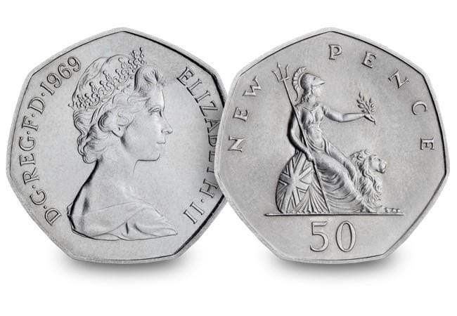 1969 britannia large 50p coin 2 - The day that changed UK coinage forever