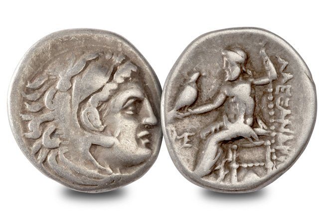 Alexander the Great Drachm obverse reverse - Murder, battles and building an empire – The coins of Alexander the Great