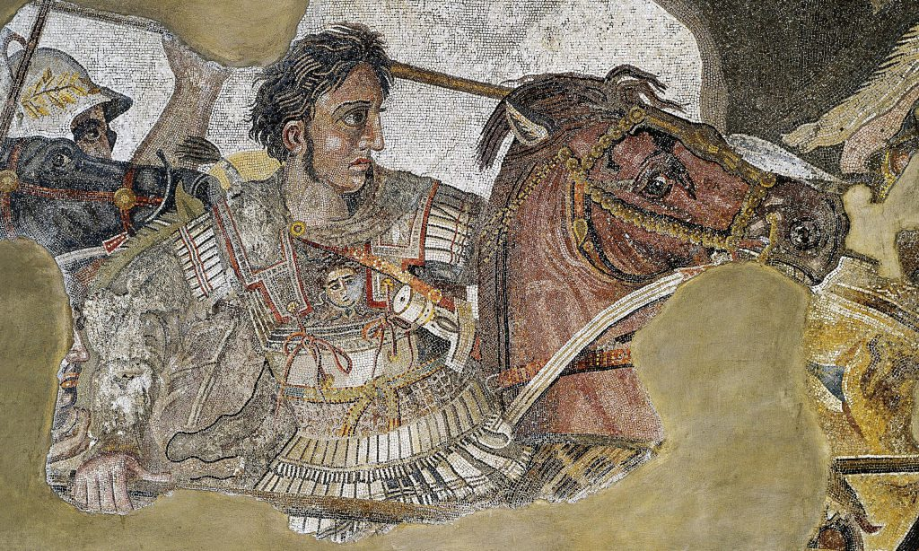 Alexander the Great mosaic 1024x614 - Murder, battles and building an empire – The coins of Alexander the Great
