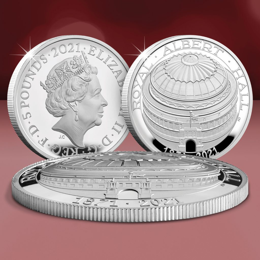 AT Royal Albert Hall Domed Coin Social 1024x1024 - Dissecting a Design: Everything you need to know about the UK's FIRST EVER Domed £5 Coin